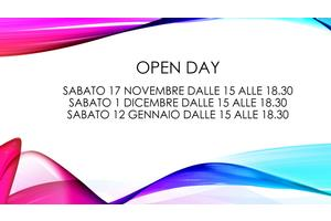 Open Day sabato 17 novembre